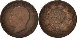 World Coins - Portugal, Luiz I, 20 Reis, 1883, , Bronze, KM:527