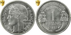 World Coins - Coin, France, Morlon, Franc, 1957, PCGS, MS65, Aluminum, KM:885a.1, graded