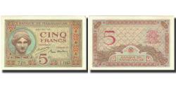 World Coins - Banknote, Madagascar, 5 Francs, 1937, KM:35, UNC(63)