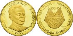 World Coins - Coin, Rwanda, 100 Francs, 1965, , Gold, KM:4