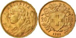 World Coins - Coin, Switzerland, 20 Francs, 1901, Bern, , Gold, KM:35.1
