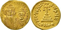 Ancient Coins - Coin, Constans II, Solidus, 654-659, Constantinople, VF(30-35), Gold