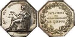 World Coins - France, Token, Louis Philippe Ier, Notaires de l'Arrondissement de Dieppe