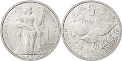 World Coins - NEW CALEDONIA, 5 Francs, 1952, Paris, KM #4, , Aluminum, 31, Lecompte..
