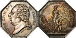 World Coins - France, Token, Louis XVIII, Compagnie d'Assurances Générales à Paris, 1818