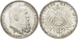 World Coins - German States, 3 Mark, 1911, Munich, KM #998, , Silver, 33, 16.65