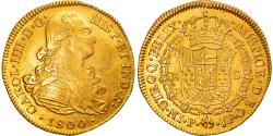 World Coins - Coin, Colombia, Charles IV, 8 Escudos, 1800, Popayan, , Gold, KM:62.2