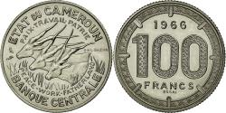 World Coins - Coin, Cameroon, 100 Francs, 1966, Paris, MS(63), Nickel, KM:E11