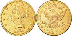 Us Coins - Coin, United States, Coronet Head, $10, Eagle, 1881, U.S. Mint, San Francisco