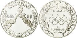 Us Coins - United States, Dollar, Olympic Games, 1988, , Silver, KM:222