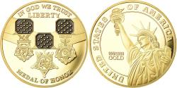 Us Coins - United States of America, Medal, Statue of Liberty, Medal of Honor,