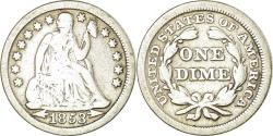 Us Coins - Coin, United States, Seated Liberty Dime, Dime, 1853, U.S. Mint, Philadelphia