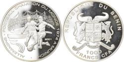 World Coins - Coin, Benin, Coupe du Monde 1974, 1000 Francs CFA, 2001, Proof,
