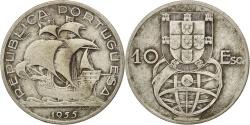 World Coins - PORTUGAL, 10 Escudos, 1955, KM #586, , Silver, 30, 12.32