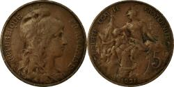 World Coins - Coin, France, Dupuis, 5 Centimes, 1921, Paris, , Bronze, KM:842