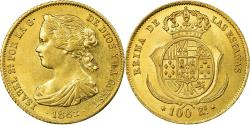 World Coins - Coin, Spain, Isabel II, 100 Reales, 1862, Madrid, , Gold, KM:605.2