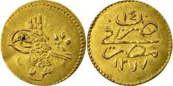 World Coins - Coin, Egypt, Abdul Aziz, 5 Qirsh, 1873/AH1277, Misr, , Gold, KM:255