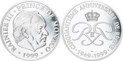 World Coins - Monaco, Medal, 50ème Anniversaire de Rainier III, 1999, , Silver