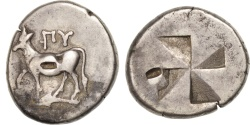 Ancient Coins - Thrace, Byzantion, Drachm, Byzantium, , Silver, 5.23