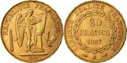 World Coins - Coin, France, Génie, 20 Francs, 1897, Paris, , Gold, KM:825