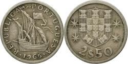 World Coins - Coin, Portugal, 2-1/2 Escudos, 1965, , Copper-nickel, KM:590