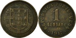 World Coins - Coin, Portugal, Centavo, 1917, , Bronze, KM:565