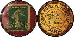World Coins - Coin, France, Grand hôtel du Pavillon, Paris, 5 Centimes, Timbre-Monnaie