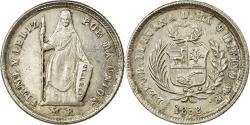 World Coins - Coin, Peru, SOUTH PERU, 1/2 Real, Medio, 1858/68, Lima, , Silver