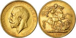 World Coins - Coin, Australia, George V, Sovereign, 1911, Melbourne, , Gold, KM:29