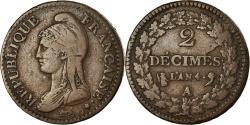 World Coins - Coin, France, Dupré, 2 Décimes, AN 4, Paris, , Bronze, KM:638.1