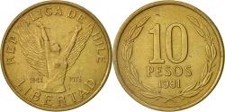 World Coins - Chile, 10 Pesos, 1981, Santiago, , Aluminum-Bronze, KM:218.1