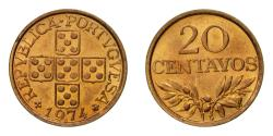 World Coins - Coin, Portugal, 20 Centavos, 1974, , Bronze, KM:595