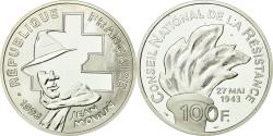 World Coins - Coin, France, Jean Moulin, 100 Francs, 1993, BE, , Silver, KM:1023