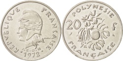 World Coins - French Polynesia, 20 Francs, 1972, Paris, , Nickel, KM:9