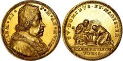 World Coins - Vatican, Medal, Clément XI, Jésus et Saint-Pierre, 1714, Hamerani,