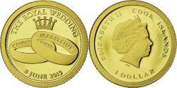 World Coins - Coin, Cook Islands, Dollar, 2013, The Royal Wedding, , Gold