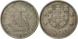 World Coins - Portugal, 5 Escudos, 1984, , Copper-nickel, KM:591
