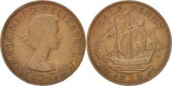 World Coins - Great Britain, Elizabeth II, 1/2 Penny, 1959, , Bronze, KM:896