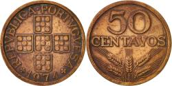 World Coins - Portugal, 50 Centavos, 1974, , Bronze, KM:596