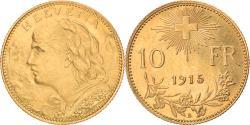 World Coins - Coin, Switzerland, 10 Francs, 1915, Bern, , Gold, KM:36