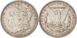 Us Coins - United States, Morgan Dollar, Dollar, 1887, U.S. Mint, Philadelphia,