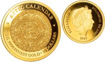 World Coins - Coin, Solomon Islands, Elizabeth II, Aztec calendar, 10 Dollars, 2015