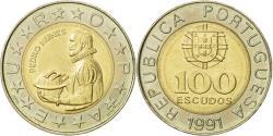 World Coins - Portugal, 100 Escudos, 1991, , Bi-Metallic, KM:645.2