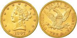 Us Coins - Coin, United States, Coronet Head, $10, Eagle, 1897, Philadelphia,