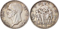 World Coins - Coin, Italy, Vittorio Emanuele III, 5 Lire, 1936, Rome, , Silver, KM:79
