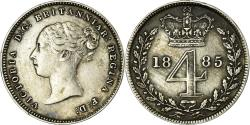 World Coins - Coin, Great Britain, Victoria, 4 Pence, Groat, 1845, , Silver, KM:732