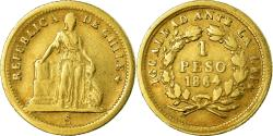 World Coins - Coin, Chile, Peso, 1864, Santiago, , Gold, KM:133