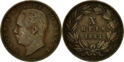 World Coins - Coin, Portugal, Luiz I, 10 Reis, 1883, , Bronze, KM:526