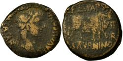 Ancient Coins - Coin, Tiberius, As, Calagurris, VF(20-25), Copper