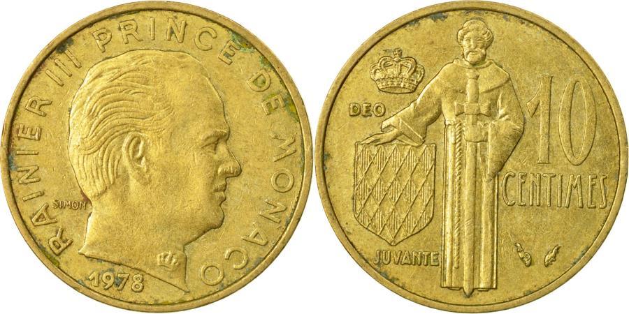 World Coins - Coin, Monaco, Rainier III, 10 Centimes, 1978, , Aluminum-Bronze, KM:142